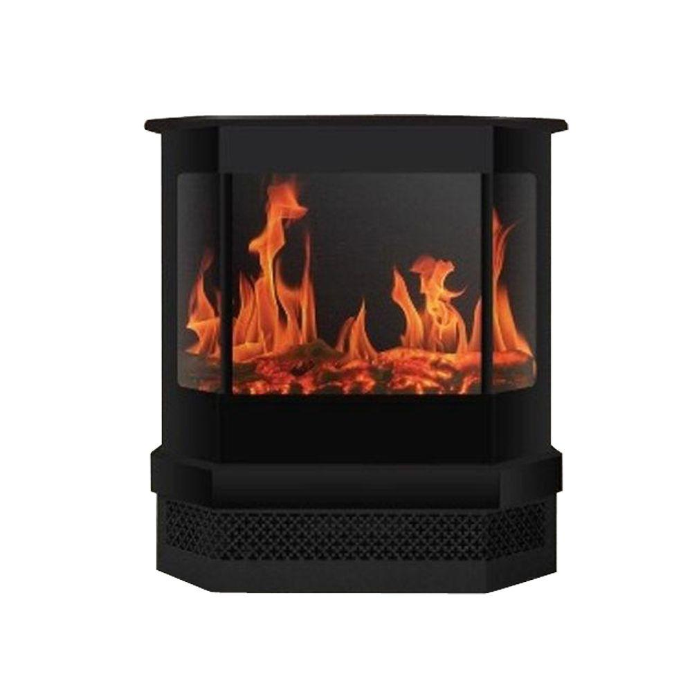 warm house cleveland 23 in bay window style electric fireplace in