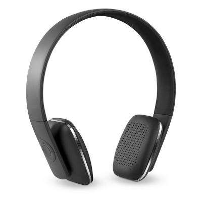 Rechargeable Wireless Bluetooth Headphones with Rubberized Finish in Black
