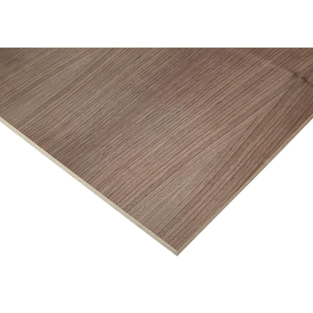 Columbia Forest Products 1/2 in. x 2 ft. x 8 ft. Europly Walnut Plywood Project Panel (Free Custom Cut Available)