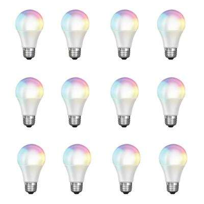 60-Watt Equivalent Daylight A19 Dimmable Color Changing Wi-Fi LED Smart Light Bulb (12-Pack)