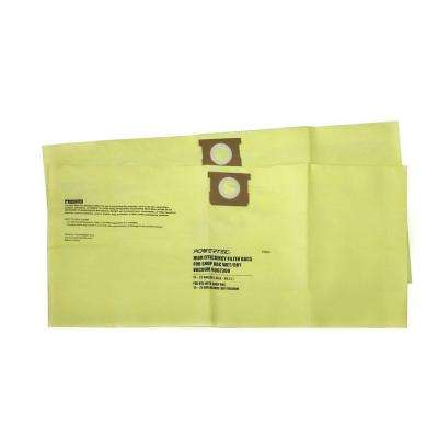 15 Gal. - 25 Gal. High Efficiency Filter Bags for Shop-Vac 9067300 (2-Pack)