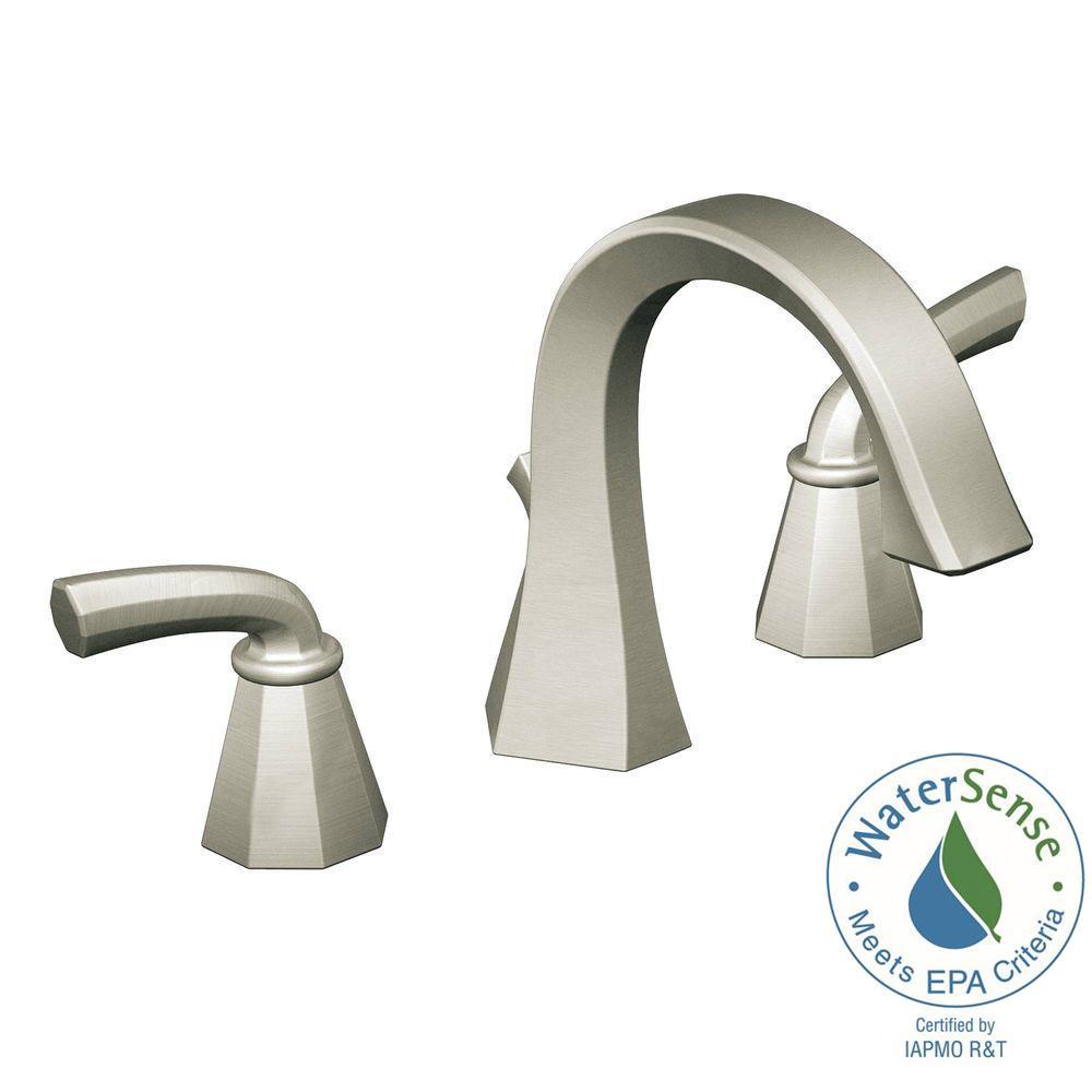 MOEN Felicity 8 in. Widespread 2-Handle High Arc Bathroom Faucet Trim Kit in Brushed Nickel (Valve Not Included)