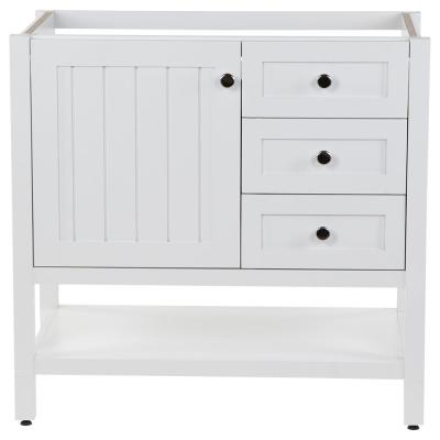 Lanceton 36 in. W x 22 in. D x 34 in. H Bath Vanity Cabinet Only in White