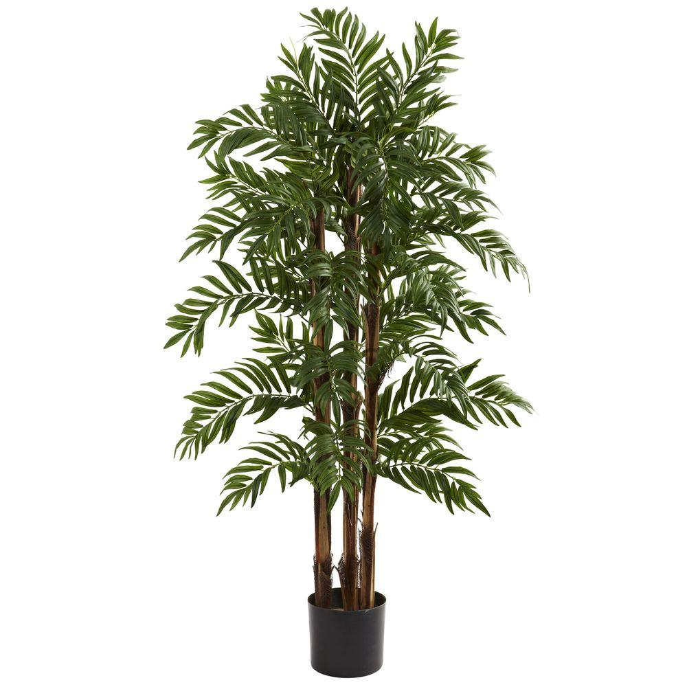 Nearly Natural 4 Ft Parlor Palm Tree 5405 The Home Depot