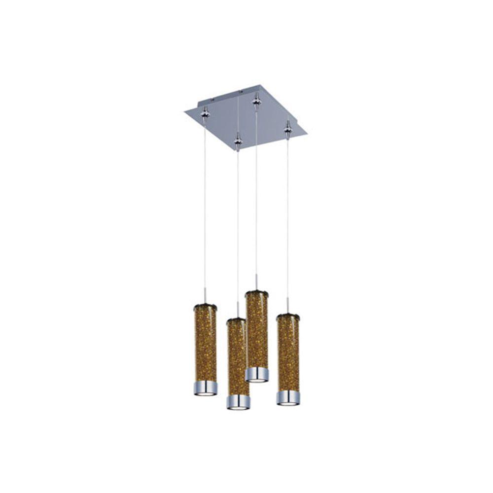 Filament Design Coit 4-Light Polished Chrome LED Ceiling Pendant
