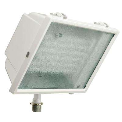 White Triple-Tube Outdoor Fluorescent Wall-Mount Fixture