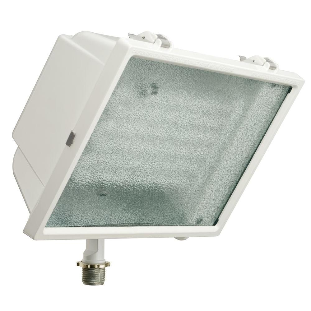 Lithonia Lighting White Triple Tube Outdoor Fluorescent Wall Mount Fixture Ofl2 65f 120 Lp Wh