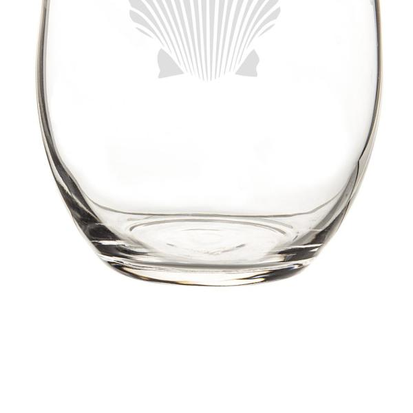 Cathys Concepts SEA-1110 Seashell Stemless Wine Glasses Clear Cathy/'s Concepts Set of 4