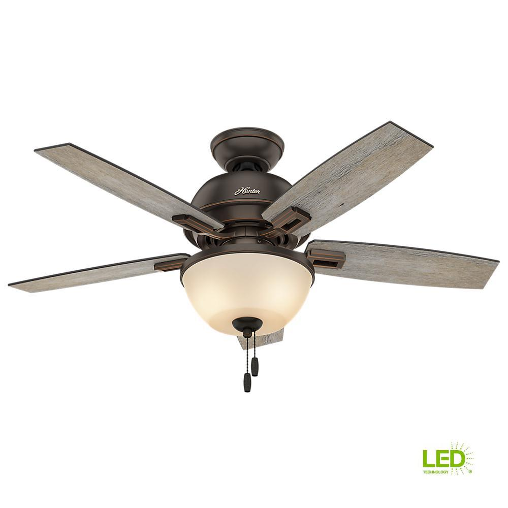 Hunter Osbourne 54 In Led Indoor Onyx Bengal Ceiling Fan 54066 Wire Condenser Motor Wiring Diagrams Further Bowl Bronze