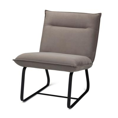Eliza 26 in. Wide Contemporary Modern Metal Frame Accent Chair in Camel Fabric