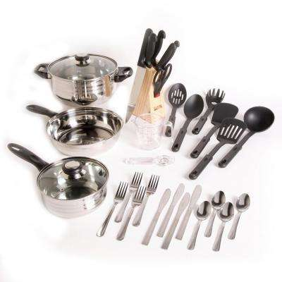 Total Kitchen Lybra 32-Piece Cookware Combo Set