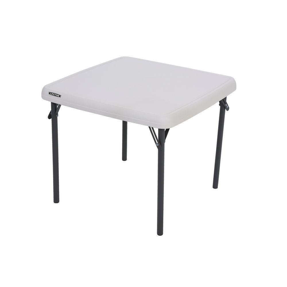 Lifetime Children's 24 in. W Square Almond Folding Table