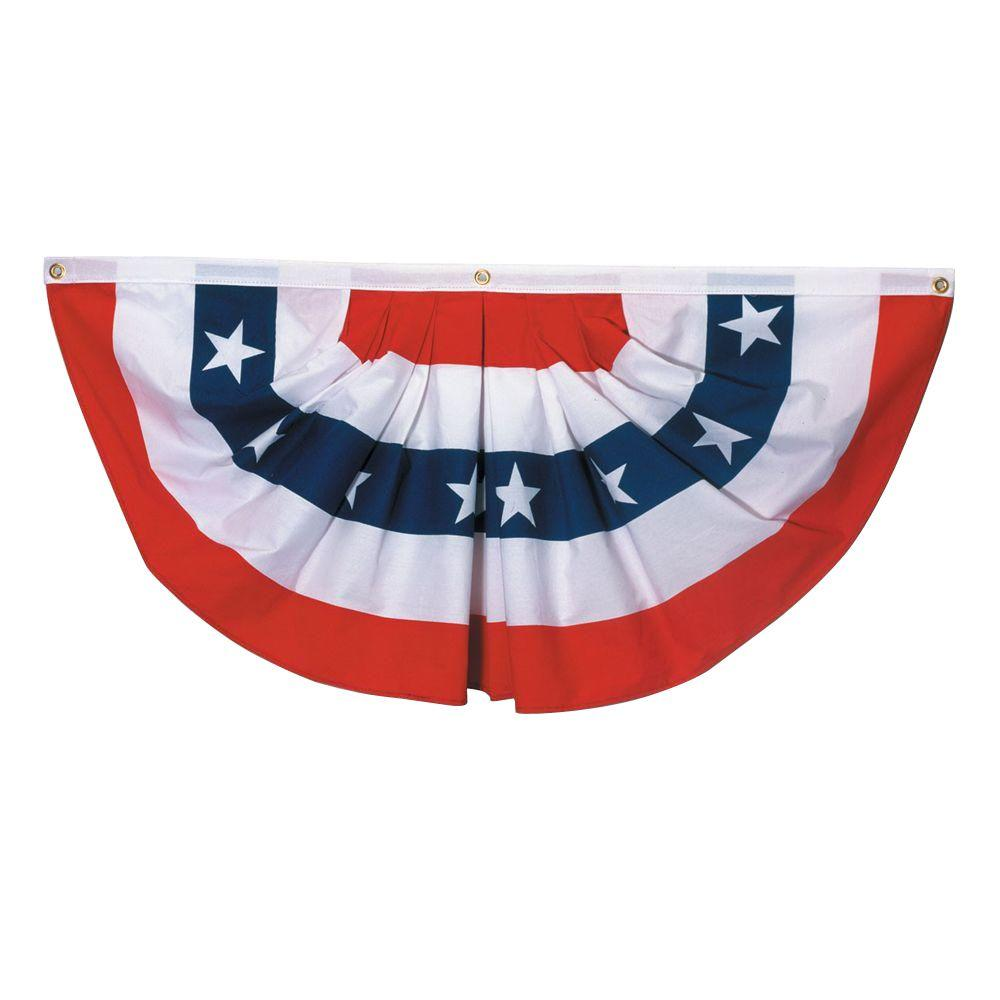 Valley Forge Flag 3 ft. x 6 ft. Polycotton Stars and Stripes Full-Fan Flag