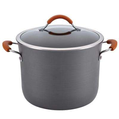 Cucina 10 Qt. Anodized Steel Stock Pot with Lid