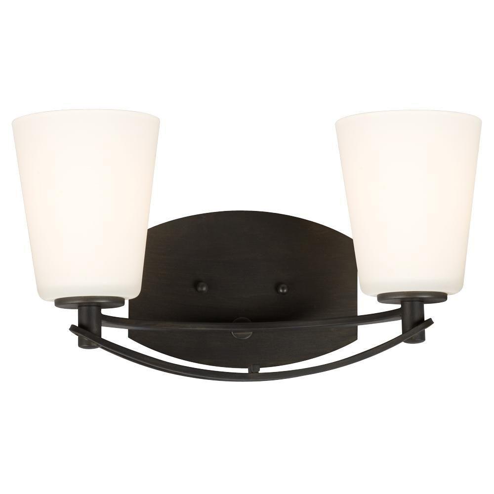 Filament design negron 2 light oil rubbed bronze for Bathroom vanity lights oil rubbed bronze
