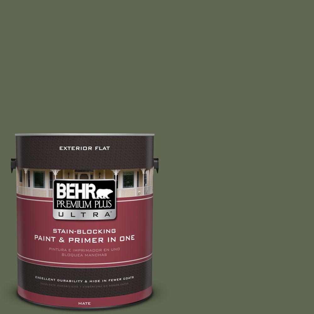 BEHR Premium Plus Ultra 1-gal. #ICC-87 Rosemary Sprig Flat Exterior Paint