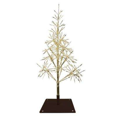 53 in. Festive Golden Christmas Tree with Warm White LED Lights