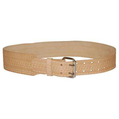 3 in. Saddle Leather Belt - L