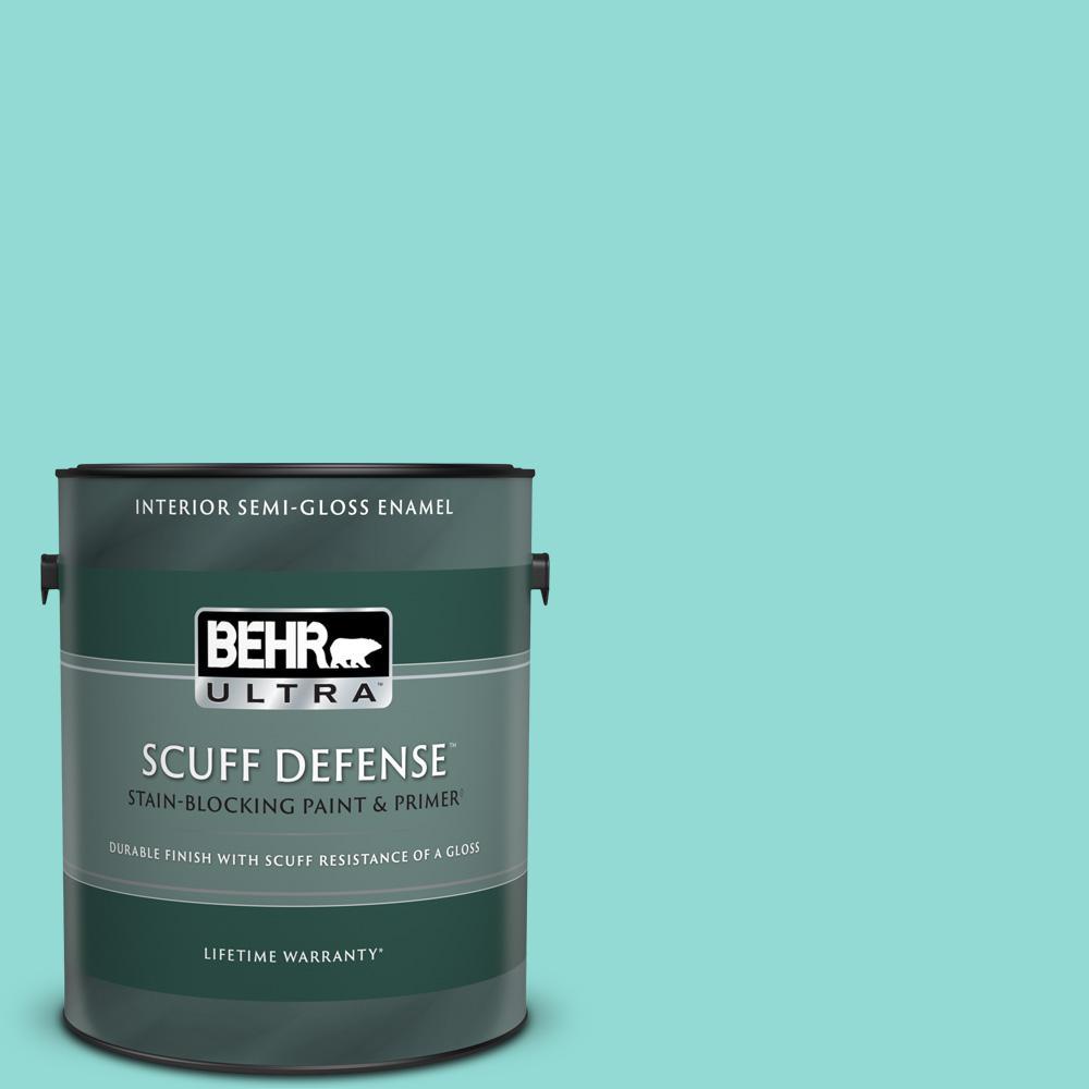 1 gal. #490A-3 Sweet Rhapsody Extra Durable Semi-Gloss Enamel Interior Paint & Primer