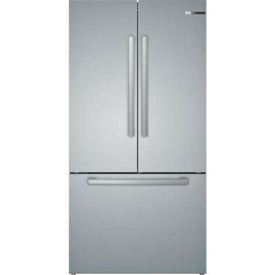 800 Series 36 in. 21 cu. ft. French Door Refrigerator in Stainless Steel with 3 Doors, Counter-Depth