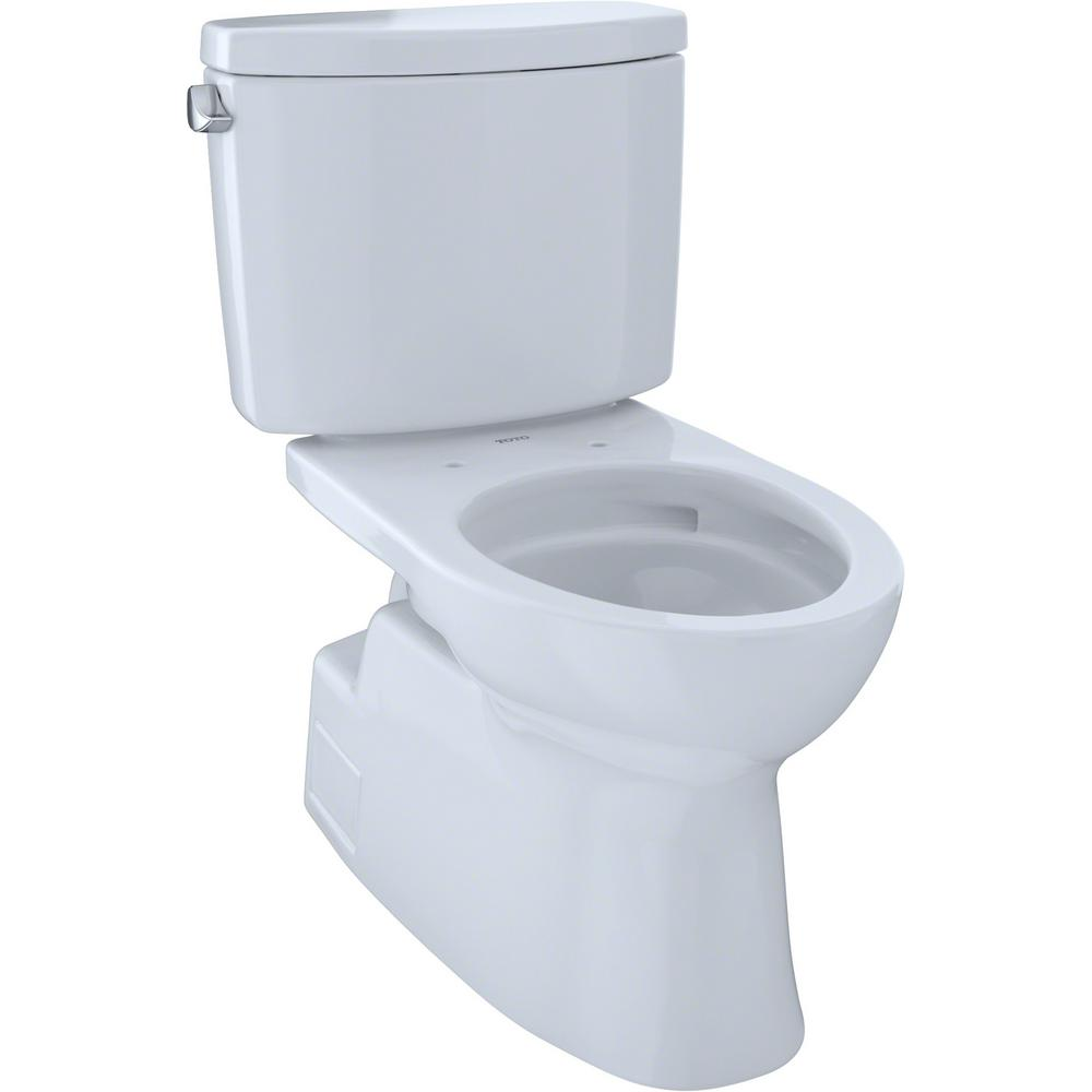 TOTO Vespin II 2-Piece 1.28 GPF Single Flush Elongated Toilet in Cotton White