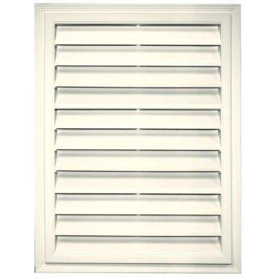 18 in. x 24 in. Rectangle Gable Vent in Parchment