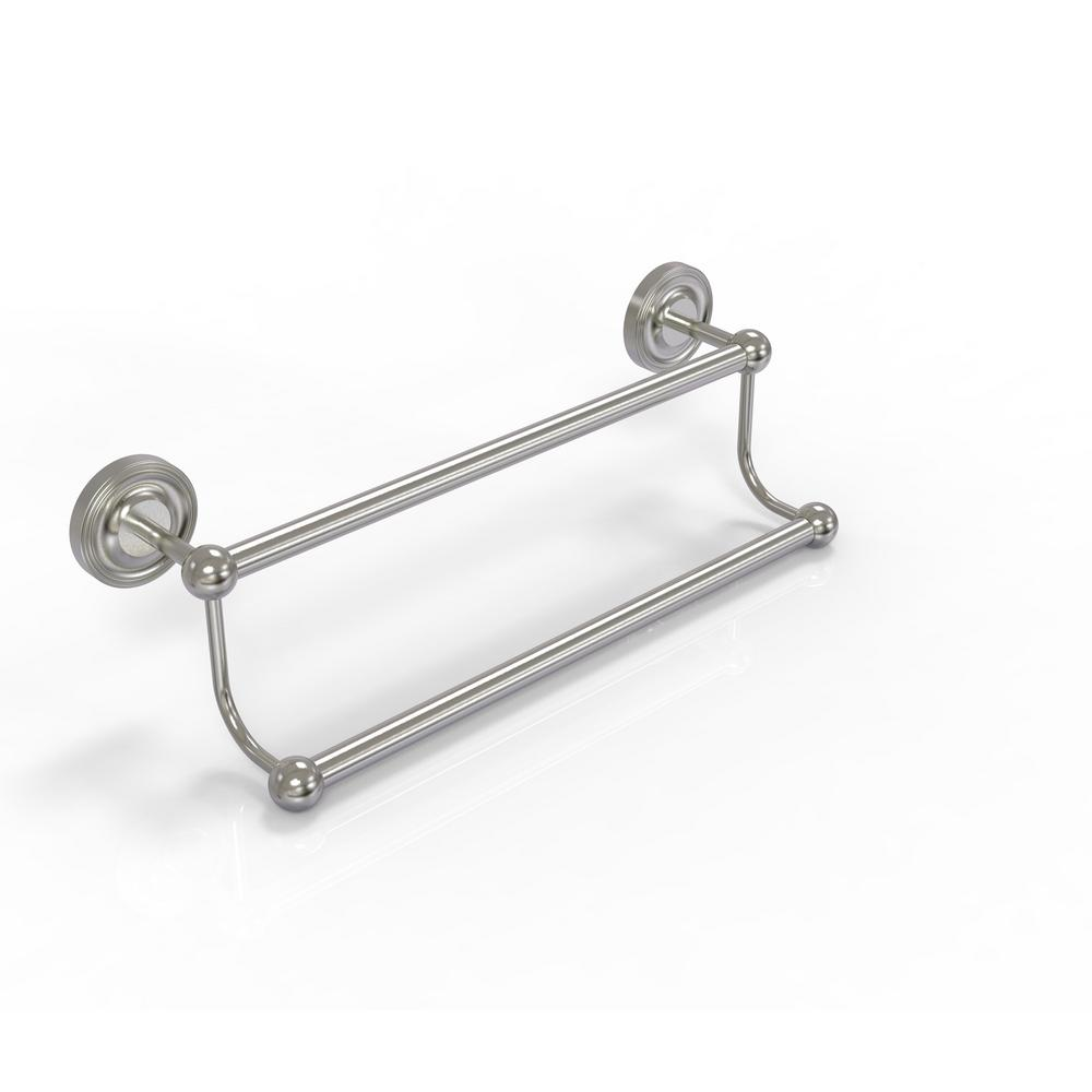 Prestige Regal Collection 18 in. Double Towel Bar in Satin Nickel