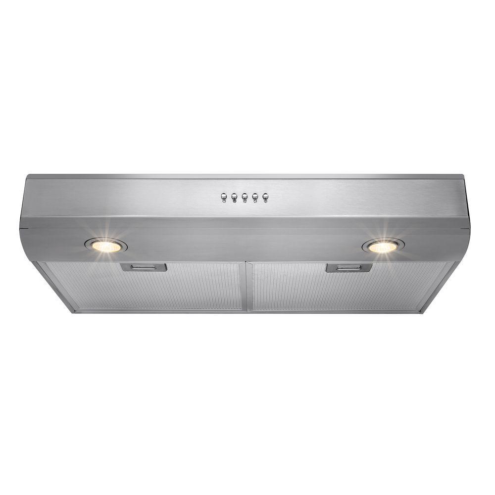 Akdy 30 In Kitchen Under Cabinet Range Hood Stainless Steel