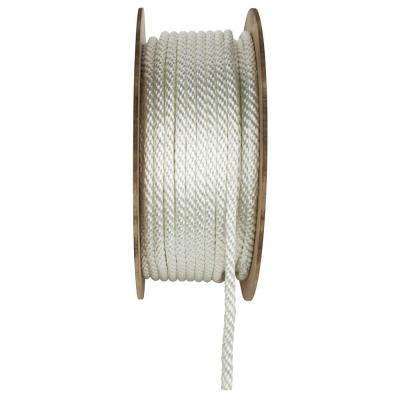 1/4 in. x 800 ft. White Braided Nylon and Polyester Rope