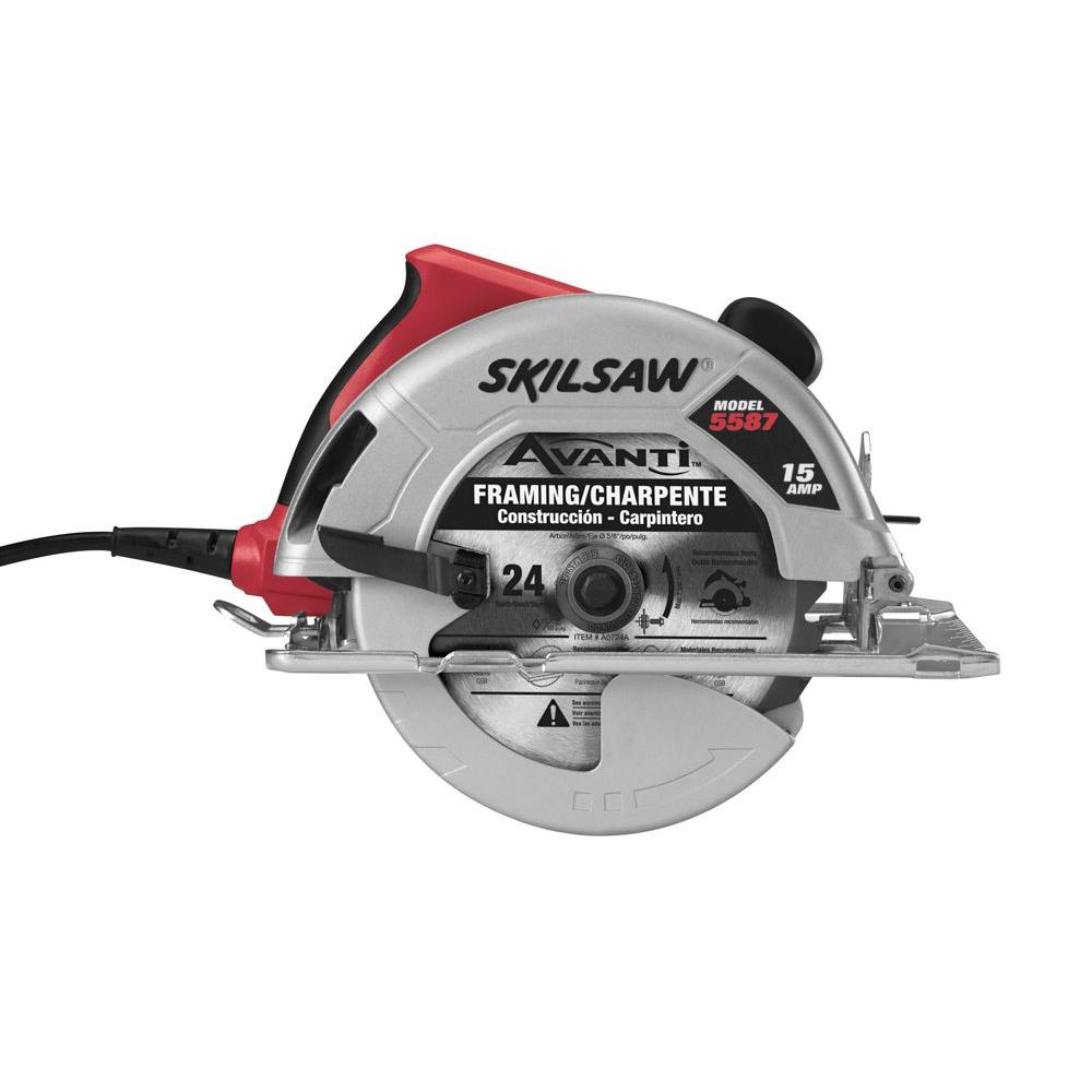 Skil 15 amp corded electric 7 14 in circular saw with 24 tooth skil 15 amp corded electric 7 14 in circular saw with 24 tooth blade 5587 01 the home depot greentooth Image collections
