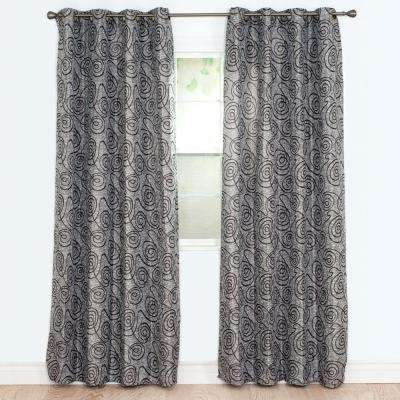 Semi-Opaque Joy Gold Polyester Jacquard Curtain