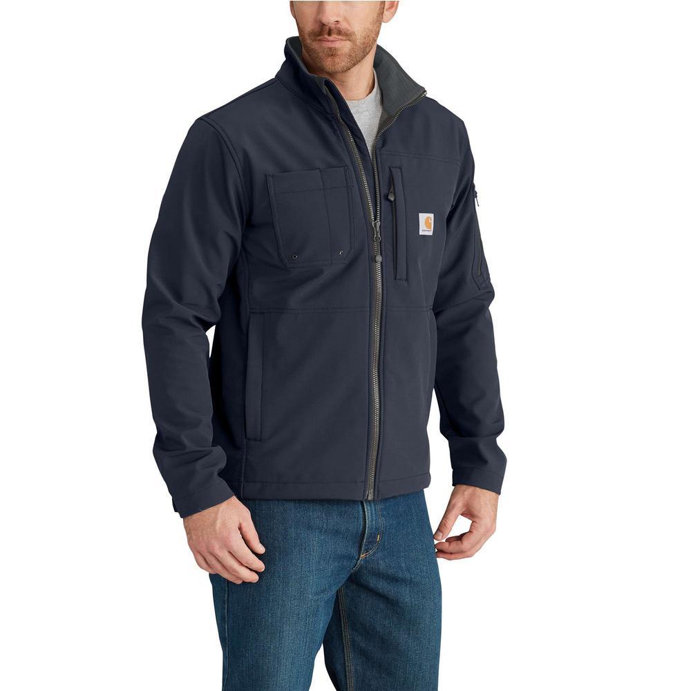 Men'S Small Navy Nylon/Spandex/Polyester Rough Cut Jacket