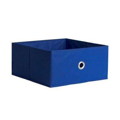 Half Fabric Drawer 12.5 in. x 5.9 in. Royal Blue Fabric Storage Bin
