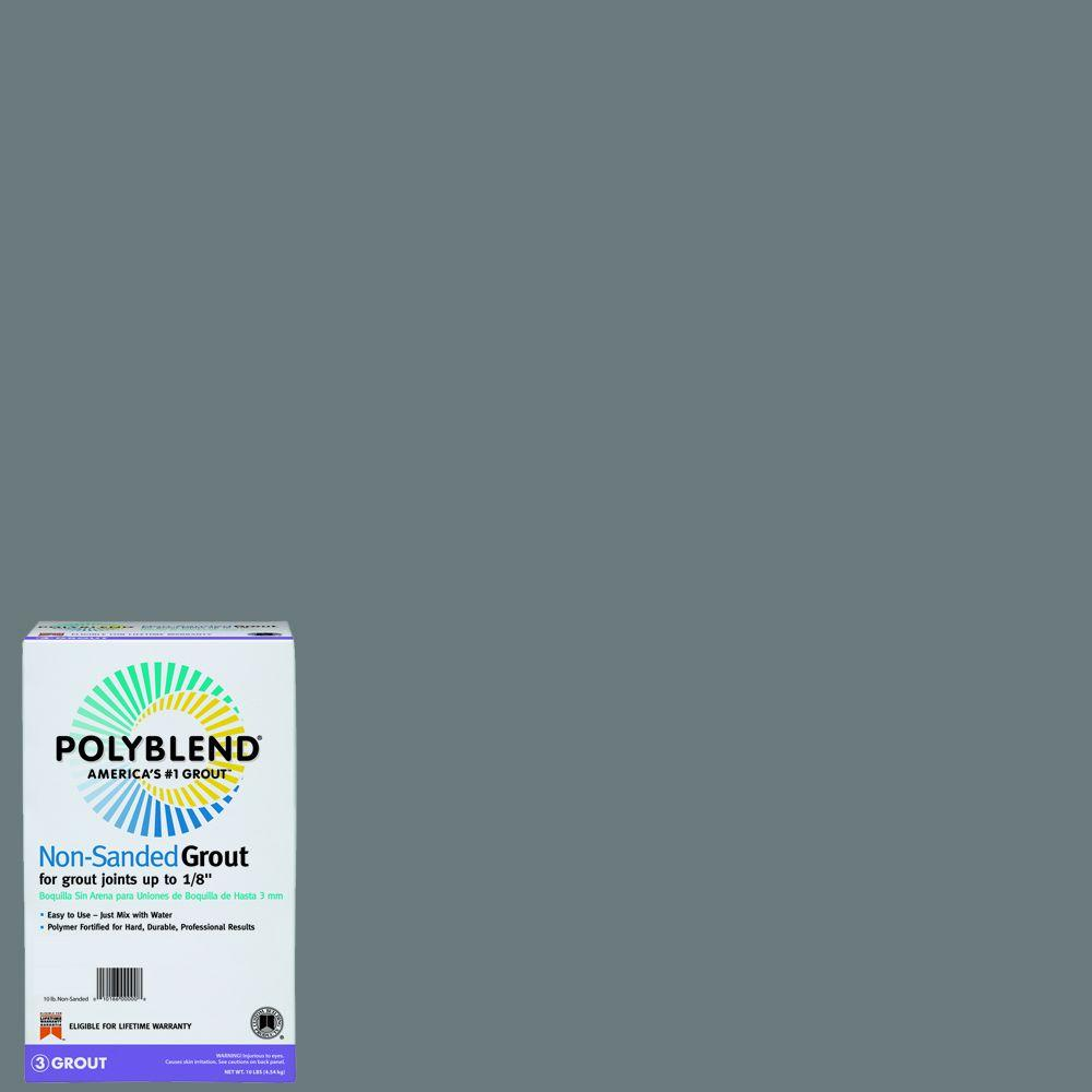 Custom Building Products Polyblend #165 Delorean Gray 10 lb. Non-Sanded Grout