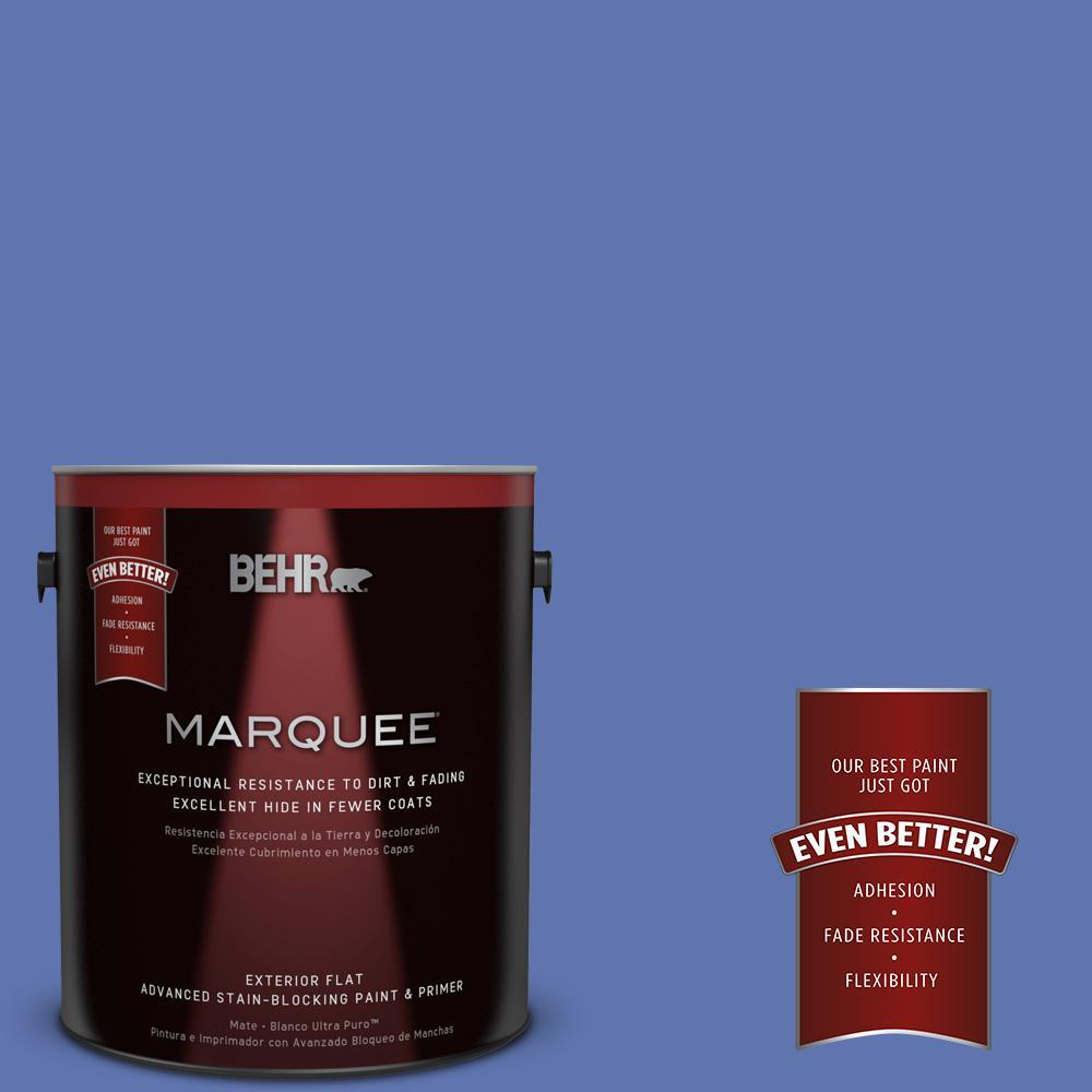 1-gal. #600B-6 Sudden Sapphire Flat Exterior Paint