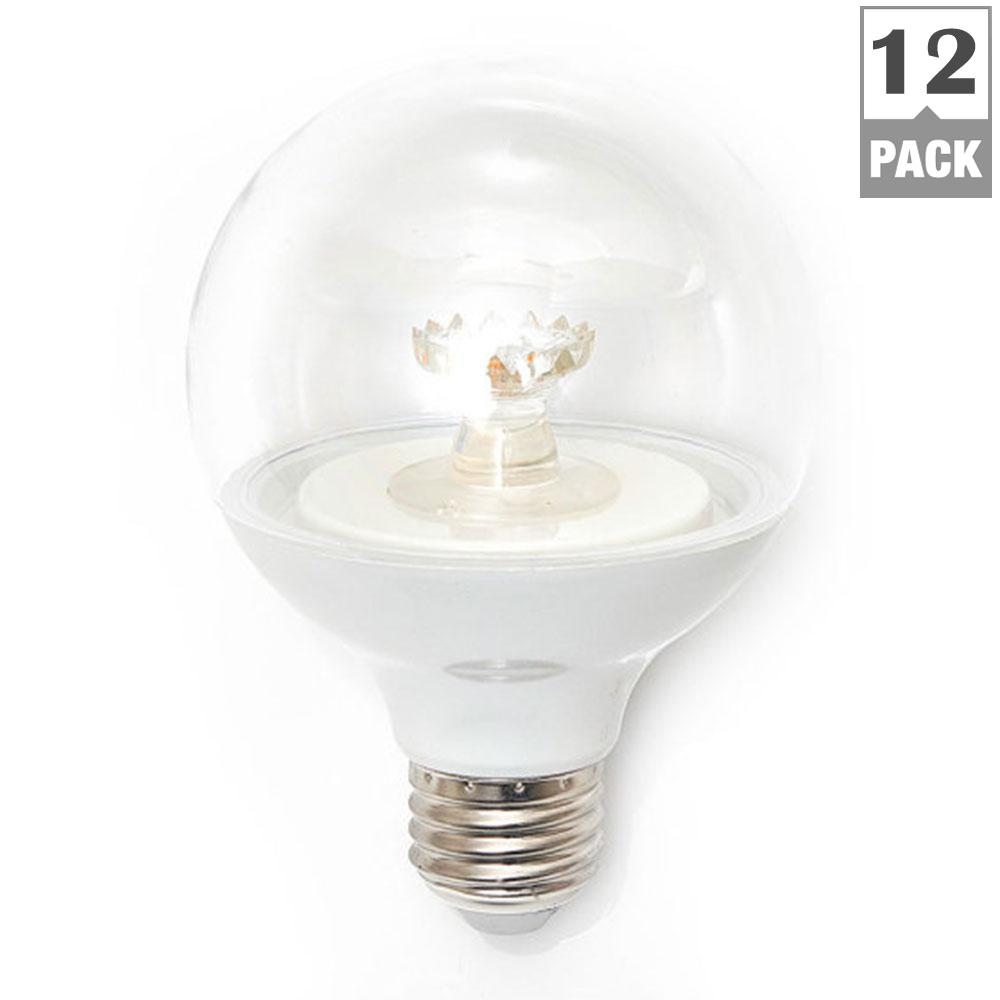 ecosmart 60 watt equivalent g25 dimmable clear led light bulb daylight 12 pack ecs 25 60we cw. Black Bedroom Furniture Sets. Home Design Ideas