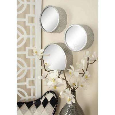 Contemporary Round Decorative Wall Mirrors (Set of 7)