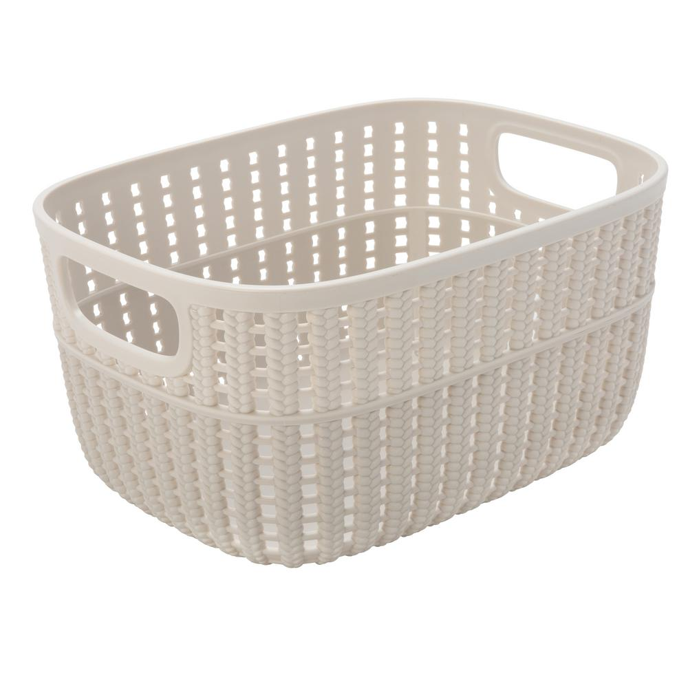 Simplify Sailor Knot 5 In. X 7 In. Small Storage Basket In 2