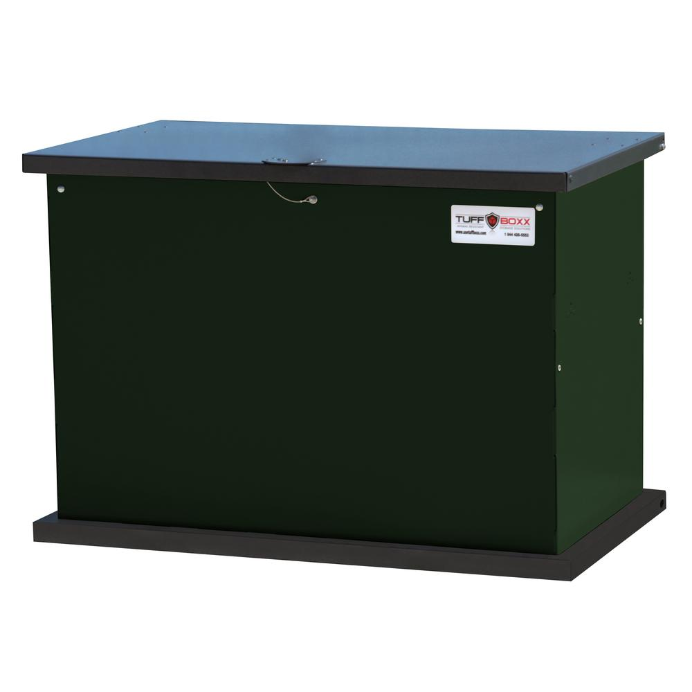 Genial SECURE STORAGE SOLUTION 137 Gal. Green Galvanized Metal Animal Resistant Storage  Container And Commercial Trash