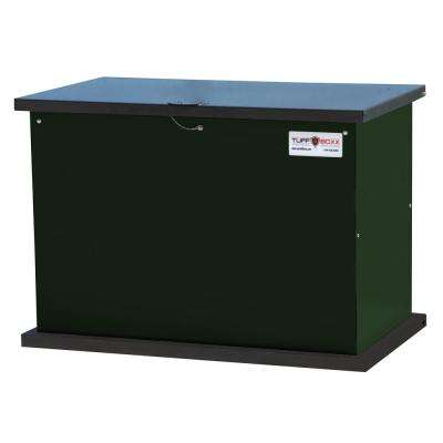 SECURE STORAGE SOLUTION 137 Gal. Green Galvanized Metal Animal Resistant Storage Container and Commercial Trash Can