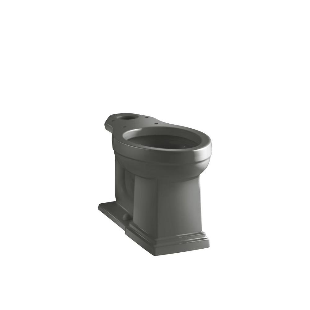 Tresham Comfort Height Elongated Toilet Bowl Only in Thunder Grey