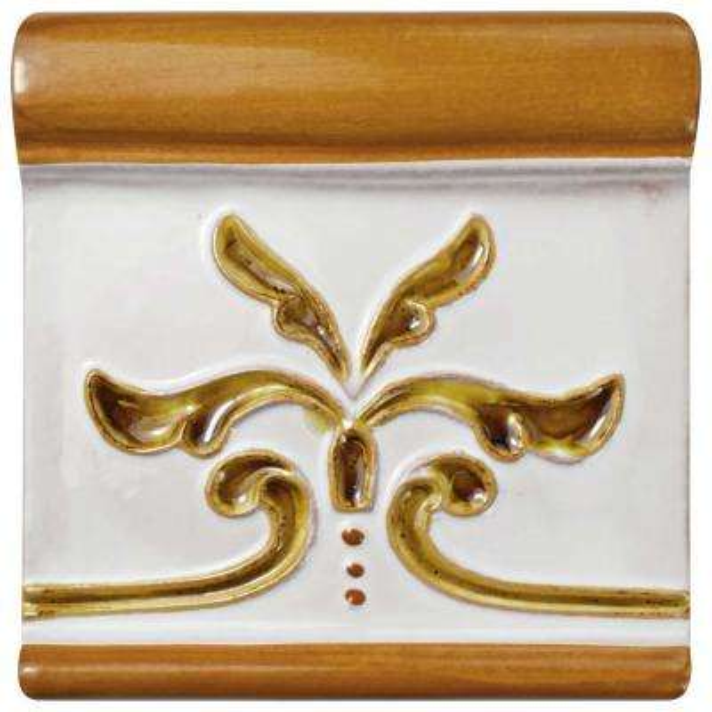 Novecento Friso Evoli Camel 5-1/4 in. x 5-1/4 in. Ceramic Wall Trim Tile