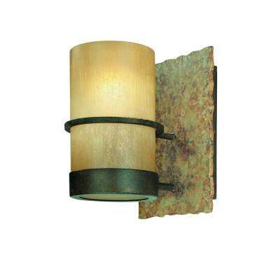 Bamboo 1-Light Bamboo Bronze Vanity Light