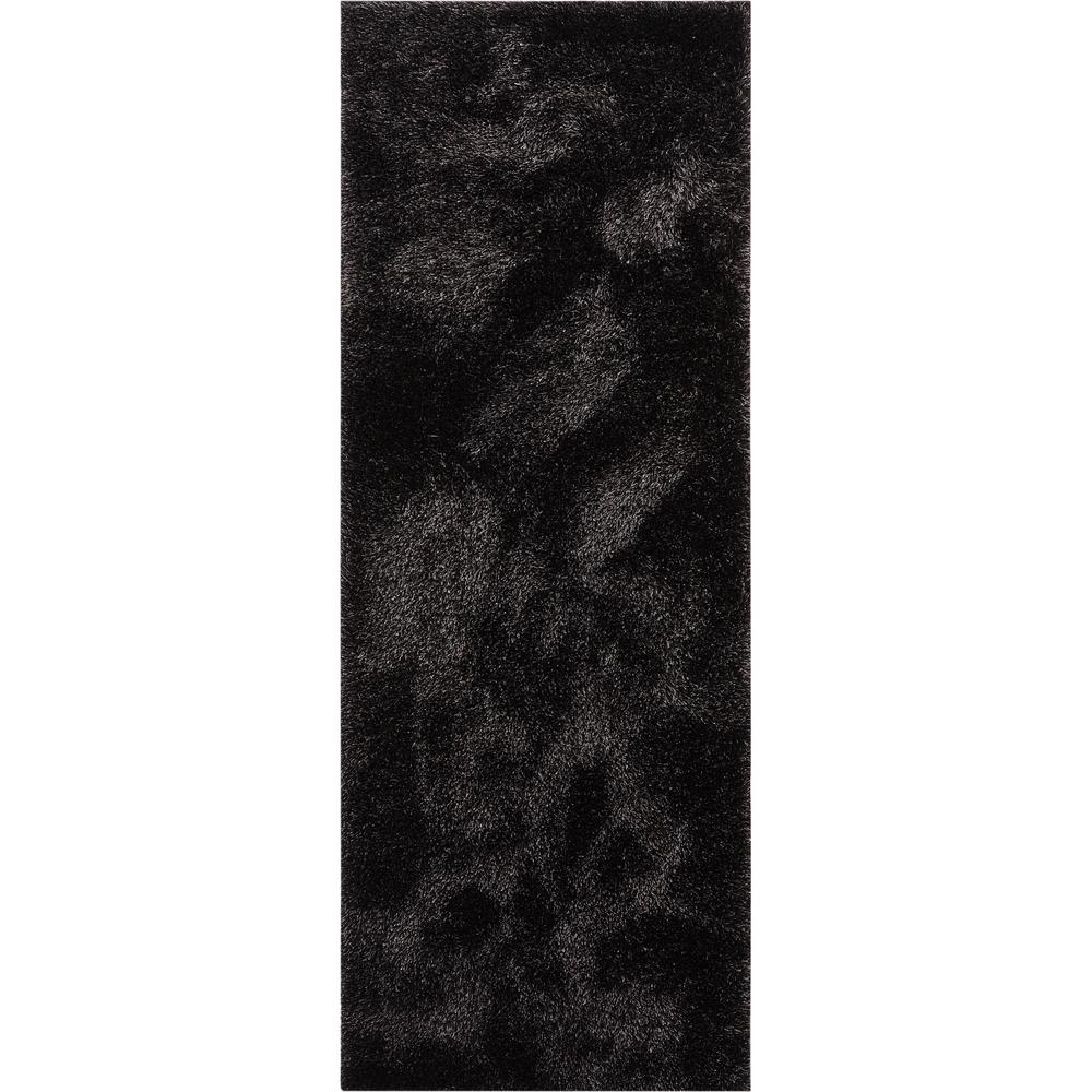 Well Woven Feather Liza Modern Solid Shag Soft Black 2 Ft 7 In X
