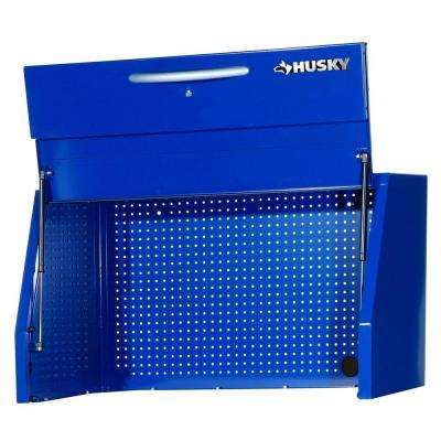 Heavy Duty 42 in. 0-Drawer Canopy Top Chest in Blue with Pegboard