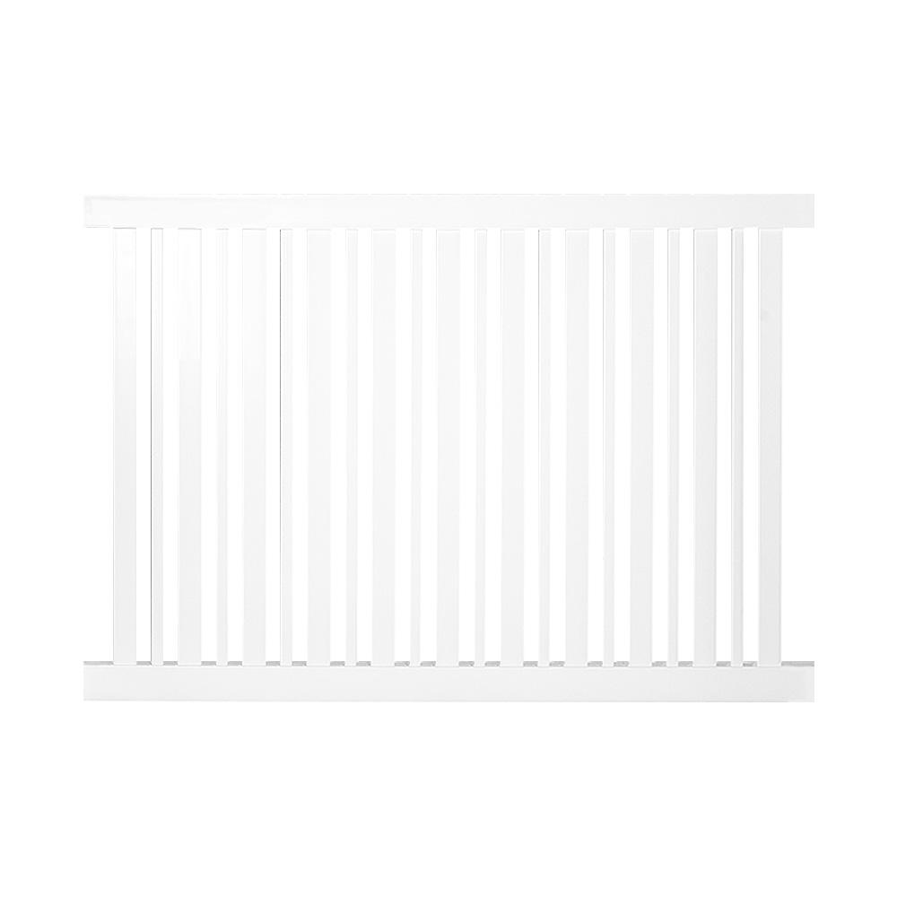 Weatherables Sarasota 4 Ft H X 8 Ft W White Vinyl Pool Fence Panel Pwpo Altnr 4x8 The Home Depot