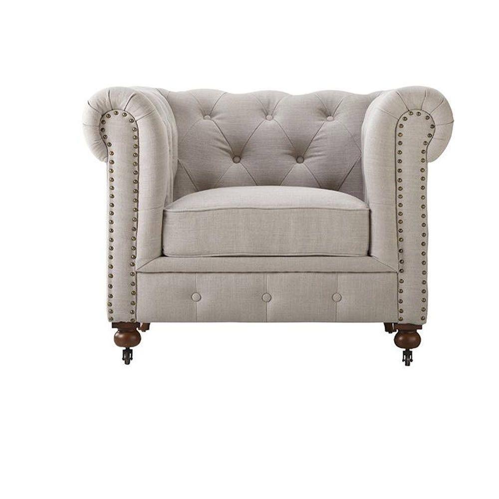 Gordon Natural Linen Arm Chair