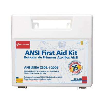 110-Piece Plastic Carry Case First Aid Kit