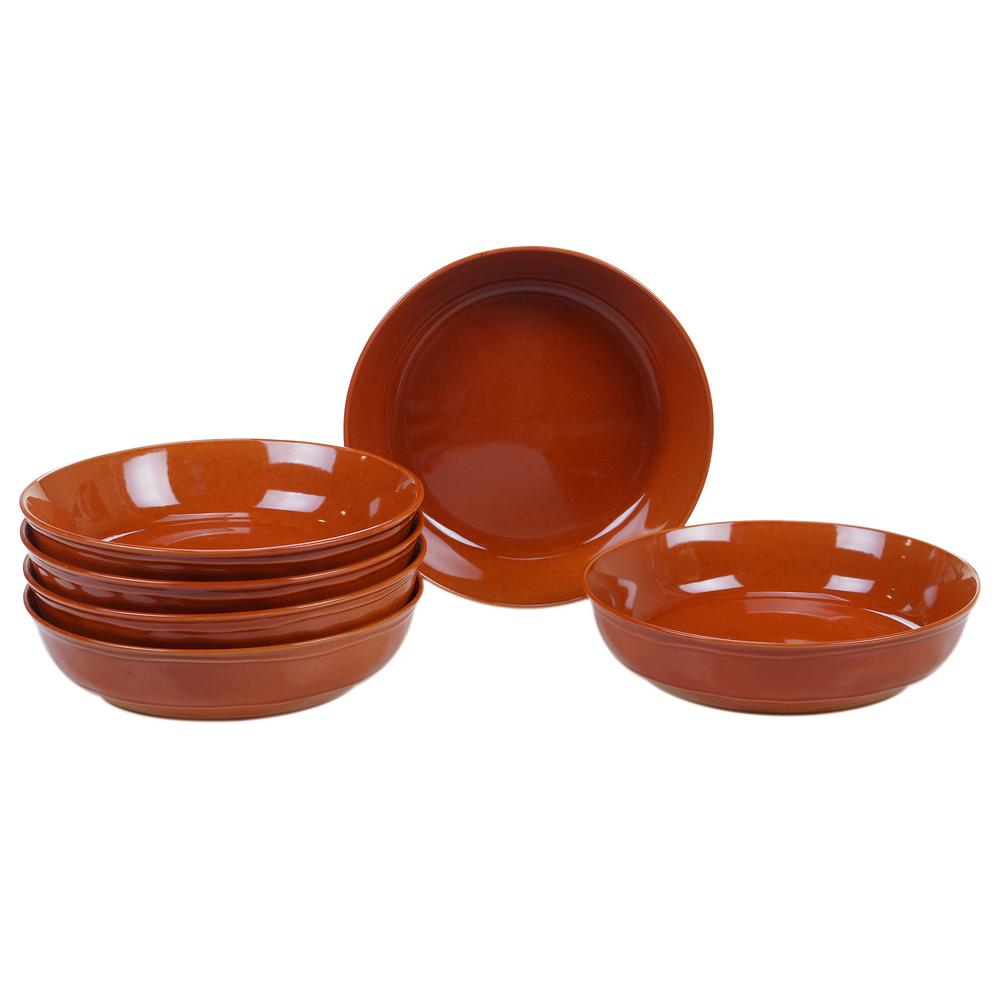 Autumn Fields by Susan Winget Orbit Pumpkin 8.5 in. Soup/Pasta Bowl