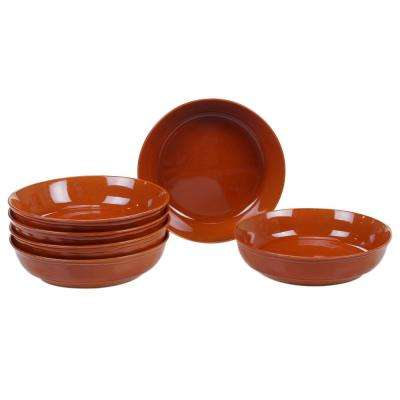 Autumn Fields by Susan Winget Orbit Pumpkin 8.5 in. Soup/Pasta Bowl (Set of 6)
